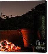 Glowing Coals Canvas Print