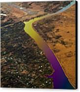 Glowing River. Rainbow Earth Canvas Print