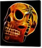 Glowing Skull Canvas Print