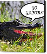 Go Gators Greeting Card Canvas Print
