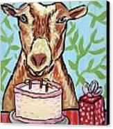 Goat's Birthday Canvas Print by Jay  Schmetz