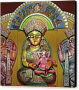 Goddess Durga Canvas Print by Pradip kumar  Paswan