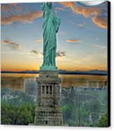 Goddess Of Freedom Canvas Print