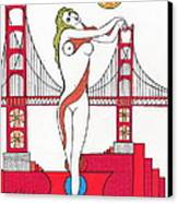 Goddess Of The Golden Gate Canvas Print by Michael Friend