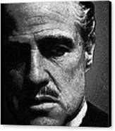 Godfather Marlon Brando Canvas Print by Tony Rubino