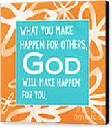 God's Gift Canvas Print