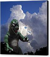 Godzilla Attacks Canvas Print by William Patrick
