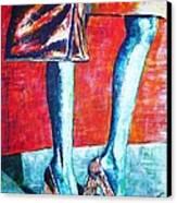 Going Shopping Canvas Print by Linda Vaughon