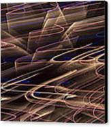Gold Abstract Lights Canvas Print by Garry Gay