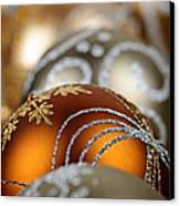 Gold Christmas Ornaments Canvas Print by Elena Elisseeva