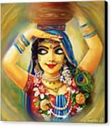 Gold Gauri Canvas Print