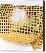 Gold Sequin Purse Canvas Print by Jo Ann Snover