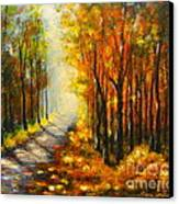 Golden Autumn Canvas Print by Elena  Constantinescu
