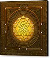 Golden-briliant Sri Yantra Canvas Print