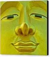 Golden Buddha Smile Canvas Print by Allan Rufus