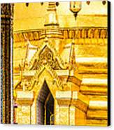 Golden Chedi - Temple Of The Emerald Buddha Canvas Print by Colin Utz
