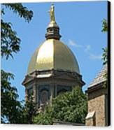 Golden Dome Notre Dame Canvas Print by Connie Dye