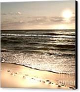 Golden Footprints Canvas Print by Jeffery Fagan