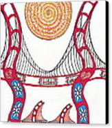 Golden Gate Bridge Dancing In The Wind Canvas Print