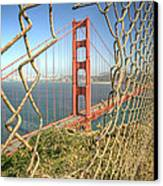 Golden Gate Through The Fence Canvas Print