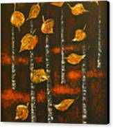 Golden Leaves 1 Canvas Print by Elena  Constantinescu