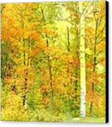 Golden Leaves  Canvas Print by Dianne  Lacourciere