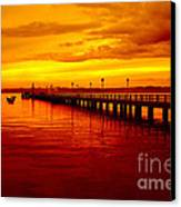 Golden Nature Canvas Print by Boon Mee