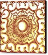 Golden Ornamental Design. Canvas Print
