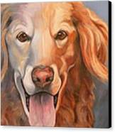 Golden Retriever Till There Was You Canvas Print by Susan A Becker