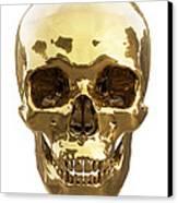 Golden Skull Canvas Print by Vitaliy Gladkiy