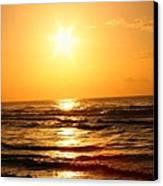 Golden Waves Canvas Print by Candice Trimble