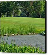Golf Course Lay Up Canvas Print by Frozen in Time Fine Art Photography