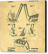 Golf Putter Patent Canvas Print by Edward Fielding
