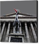 Goma Glasgow Pop Art Grey Canvas Print