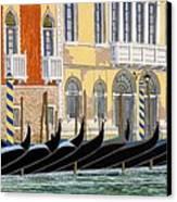 Gondolas On The Grand Canal  Canvas Print