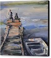 Gone Fishin' Canvas Print by Donna Tuten