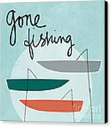 Gone Fishing Canvas Print by Linda Woods
