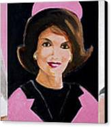 Good And Plenty Jackie O  Canvas Print by Candace Lovely