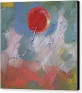 Goodbye Red Balloon Canvas Print by Michael Creese
