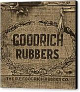 Goodrich Rubbers Boot Box Canvas Print by Tom Mc Nemar