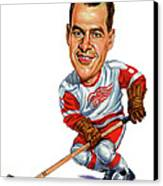Gordie Howe Canvas Print by Art
