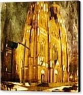 Gothic Cathedral Canvas Print by Jaroslaw Grudzinski