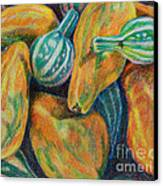 Gourds For Sale Canvas Print by Janet Felts