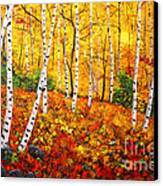 Graceful Birch Trees Canvas Print by Connie Tom