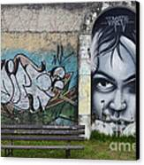 Graffiti Art Curitiba Brazil 1 Canvas Print by Bob Christopher