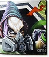 Graffiti Art Curitiba Brazil 18 Canvas Print by Bob Christopher