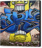 Graffiti Art Curitiba Brazil 7 Canvas Print by Bob Christopher