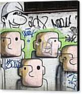 Graffiti Art Rio De Janeiro 5 Canvas Print