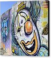 Graffiti Art Santa Catarina Island Brazil 1 Canvas Print by Bob Christopher