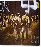 Graffiti Walk Together Canvas Print by Victoria Herrera